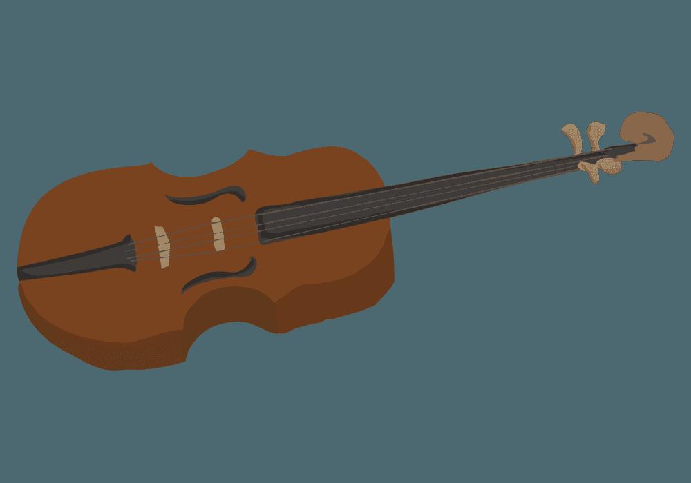 斜め横からみたバイオリンのイラスト
