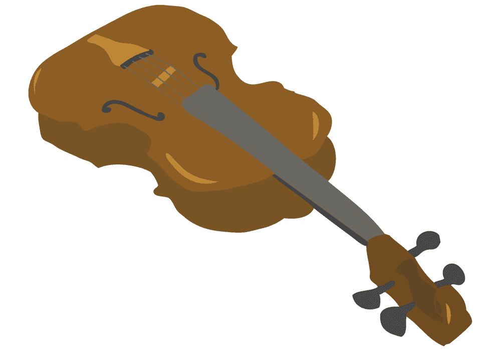 演奏時の視点から見たバイオリンのイラスト