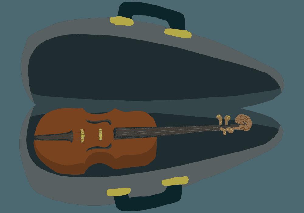 ケースに入ったバイオリンのイラスト