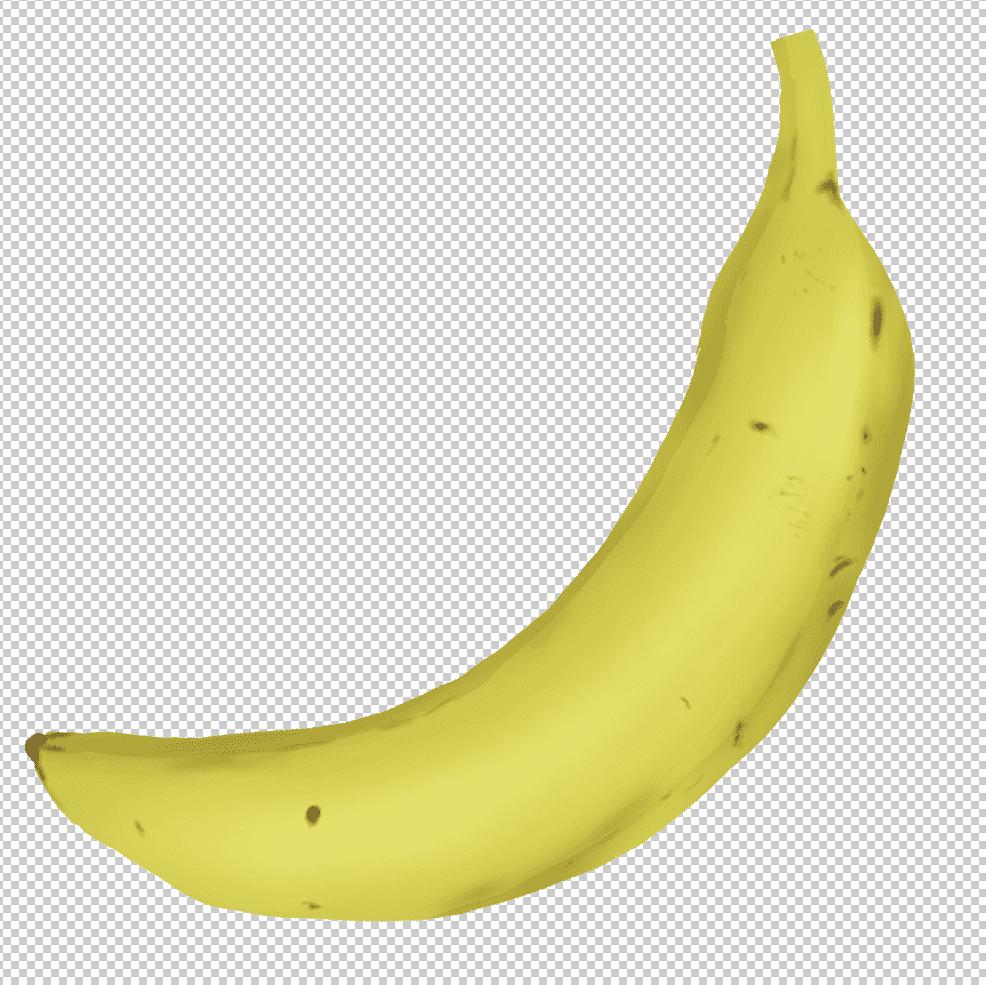 バナナのリアルイラストをダウンロードして開く