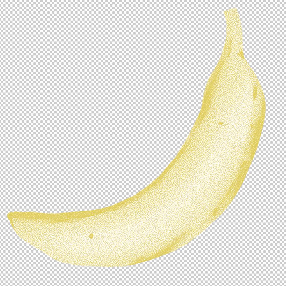 カラーコピー風のバナナのイラスト