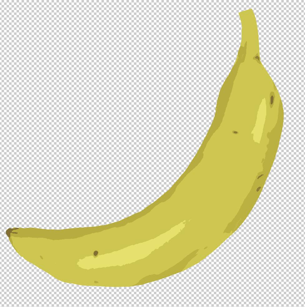 カットアウト風のバナナのイラスト
