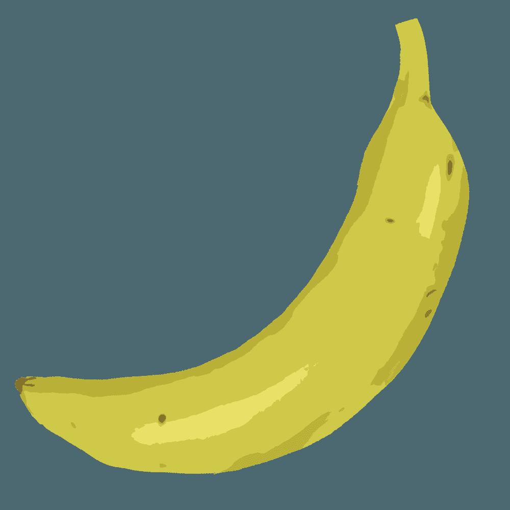 モダンなバナナイラスト