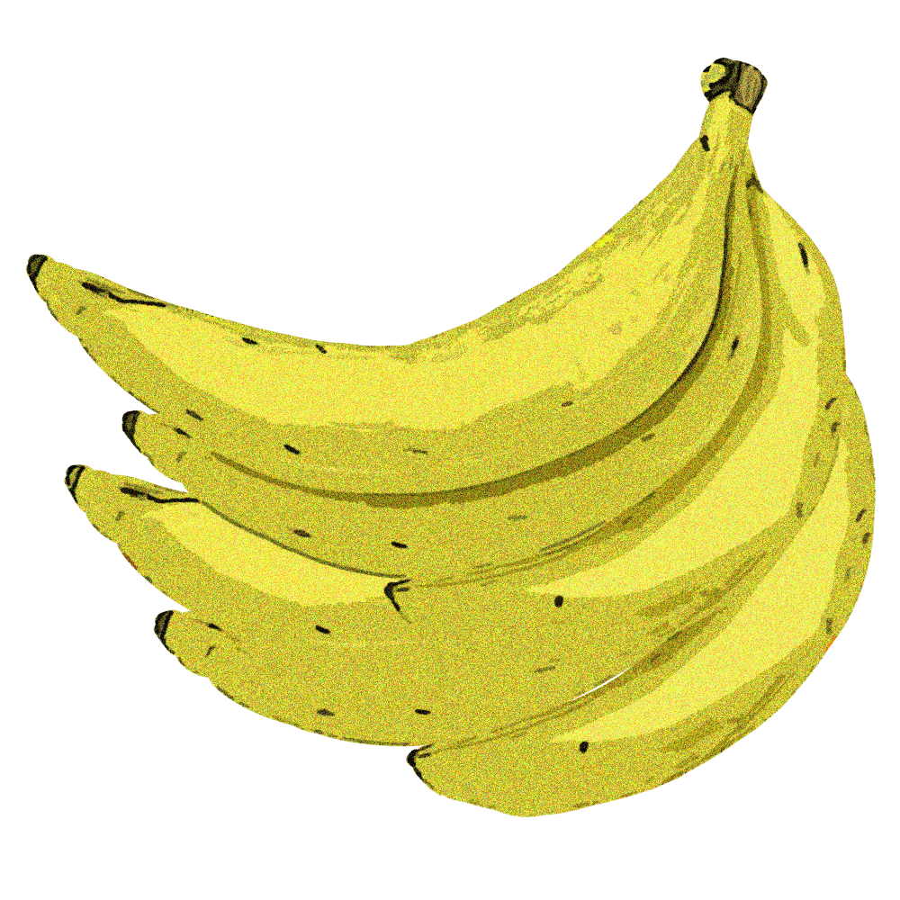 つるつる質感のバナナイラスト