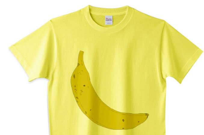 イエローボディーのバナナTシャツ
