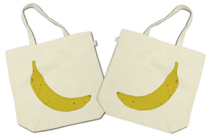 バナナのトートバッグ