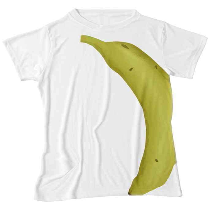 巨大なバナナプリントTシャツ
