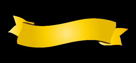 ゴールドのバナーのイラスト10