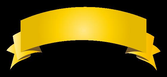 ゴールドのバナーのイラスト12