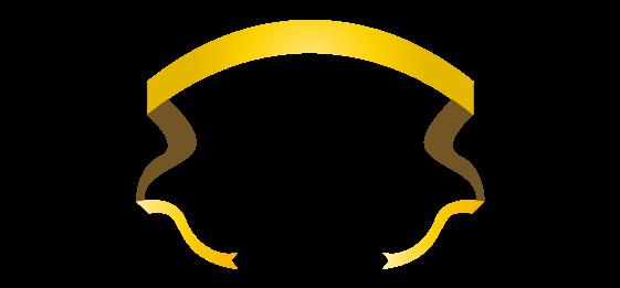 ゴールドのバナーのイラスト14