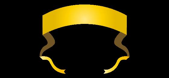 ゴールドのバナーのイラスト15