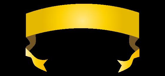 ゴールドのバナーのイラスト16