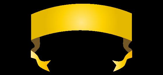 ゴールドのバナーのイラスト17
