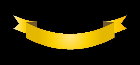ゴールドのバナーのイラスト2