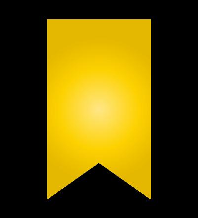 ゴールドのバナーのイラスト24