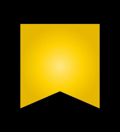 ゴールドのバナーのイラスト26