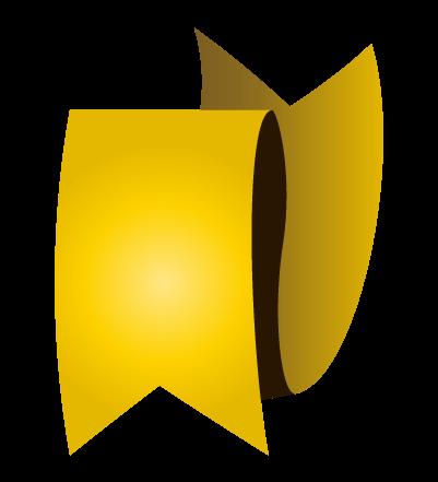 ゴールドのバナーのイラスト27