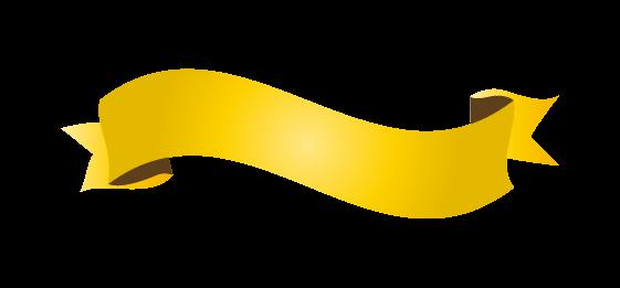 ゴールドのバナーのイラスト3