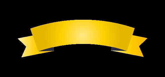 ゴールドのバナーのイラスト4