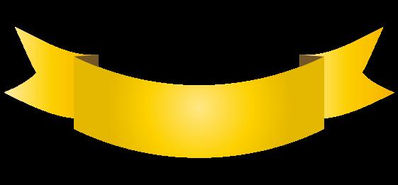 ゴールドのバナーのイラスト5