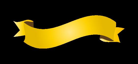 ゴールドのバナーのイラスト6