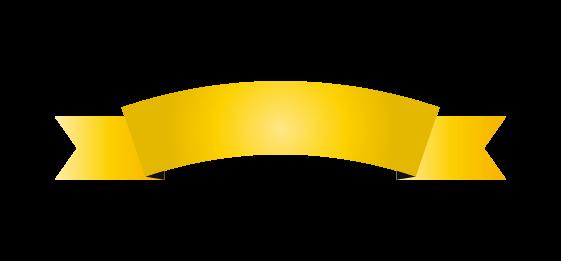 ゴールドのバナーのイラスト7