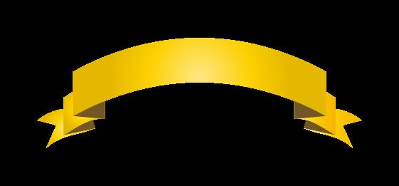 ゴールドのバナーのイラスト8