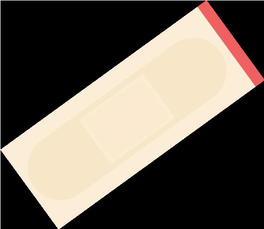 使用前の絆創膏のイラスト