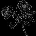 薔薇のシルエットイラスト