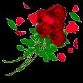おしゃれな薔薇のイラスト
