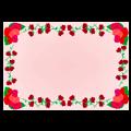 薔薇のフレームイラスト