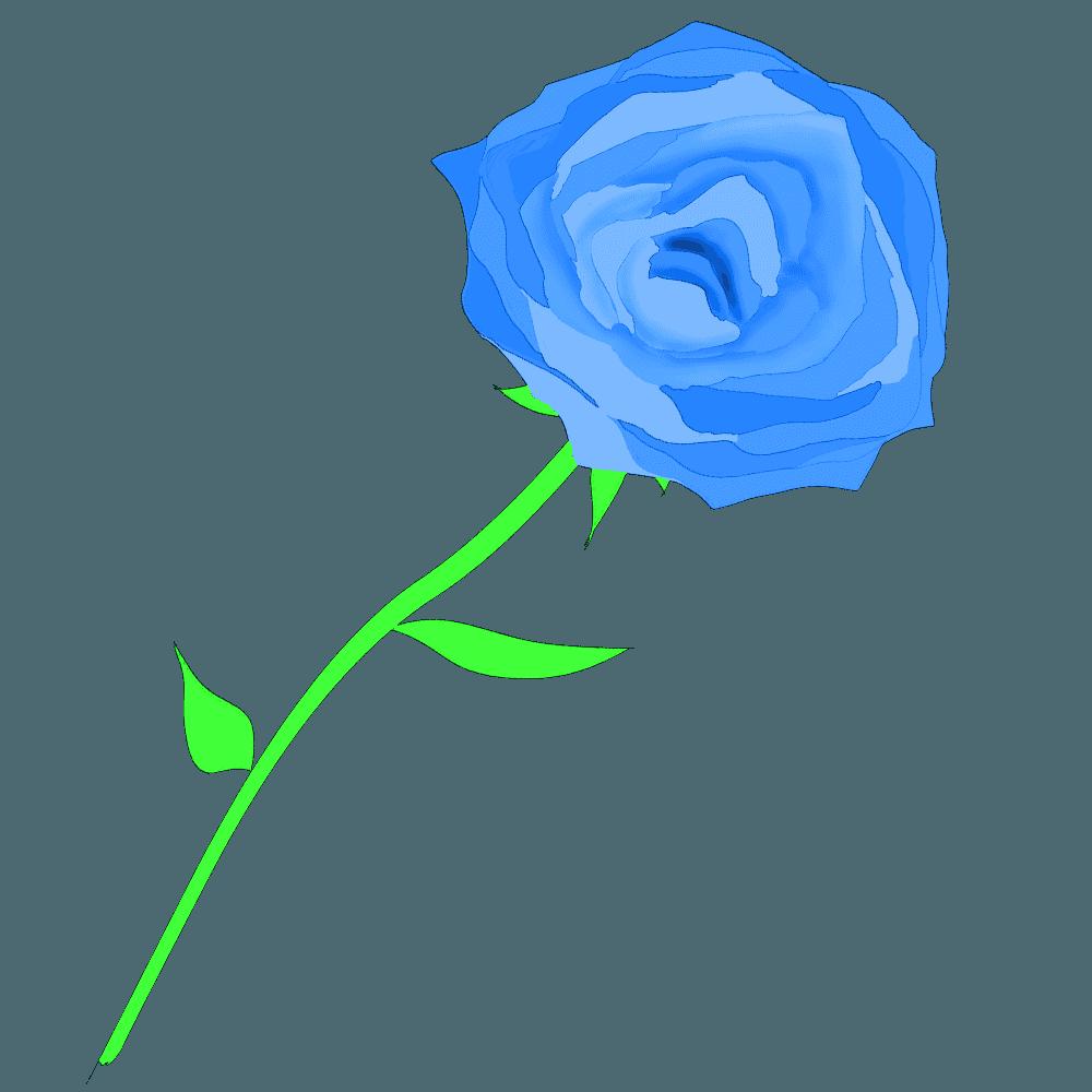 青っぽい色のバライラスト