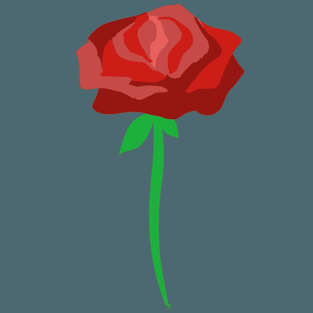 シンプルな赤いバライラスト