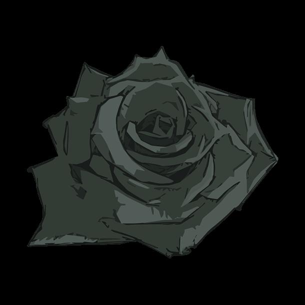 黒い薔薇のイラスト