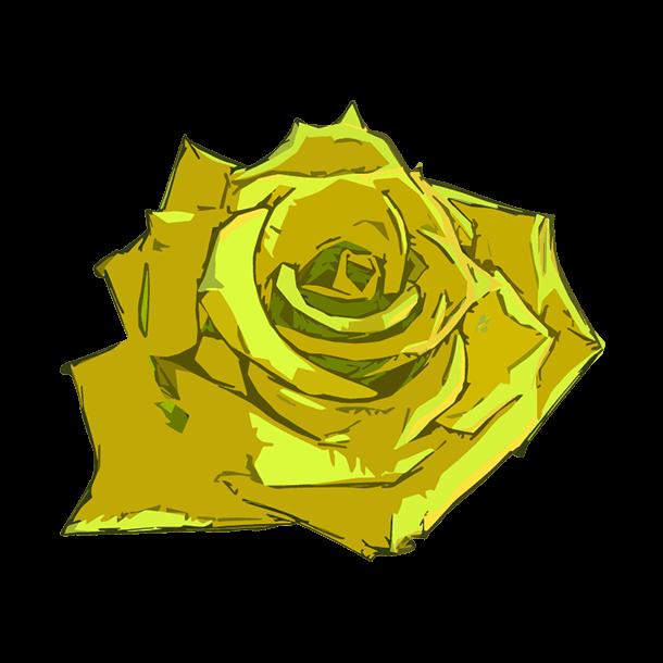 黄色い薔薇のイラスト