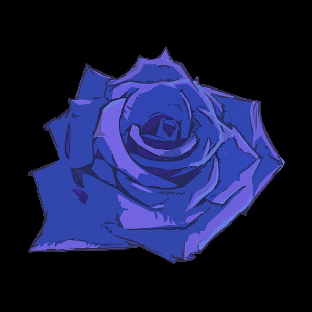 青い薔薇のイラスト