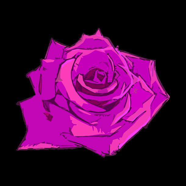 紫の薔薇のイラスト