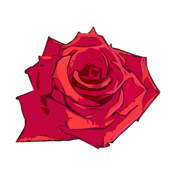 赤い薔薇のイラスト