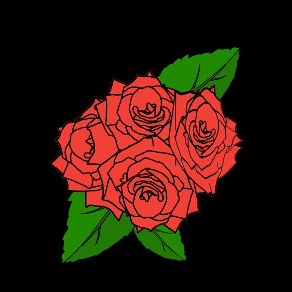 おしゃれな薔薇のイラスト2