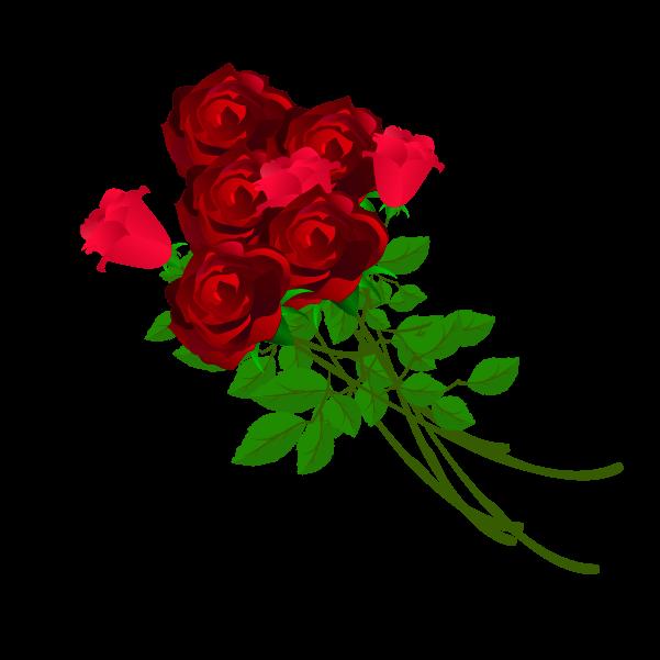 薔薇の花束のイラスト
