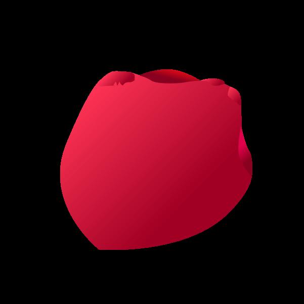 薔薇の花びらのイラスト3