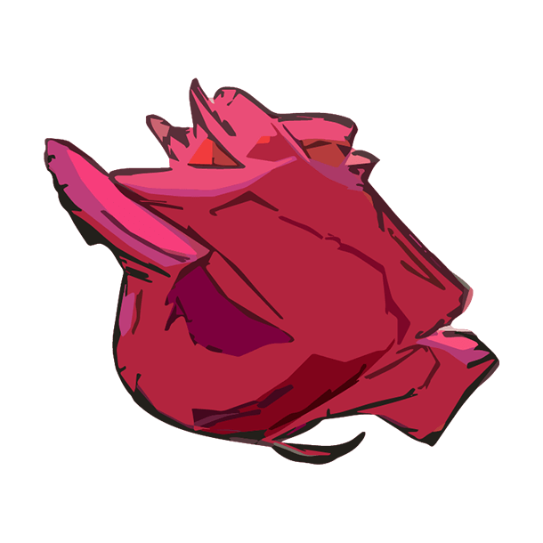 横から見た薔薇のイラスト