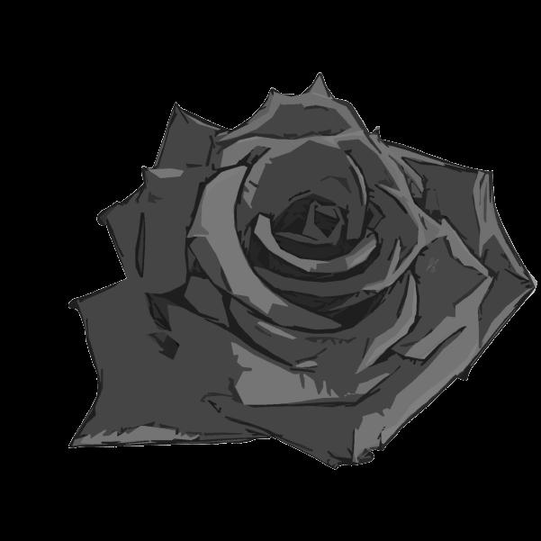 白黒の薔薇のイラスト5