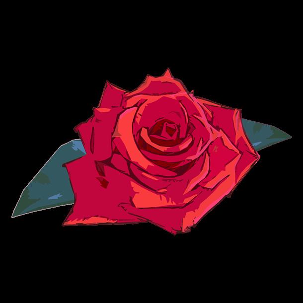 アートな薔薇のイラスト