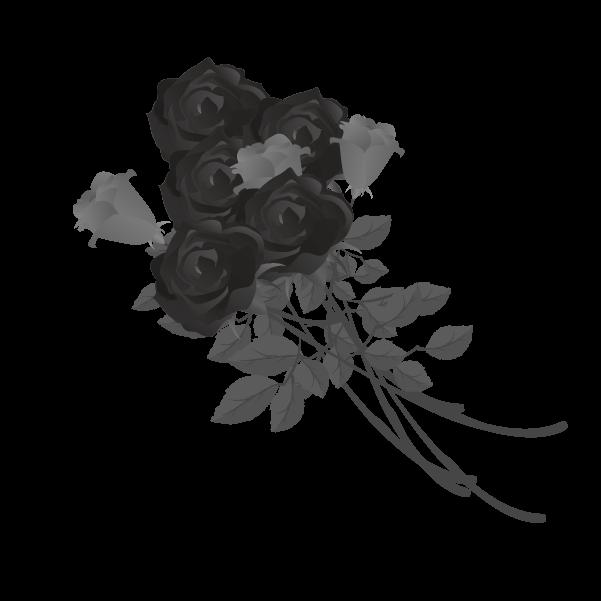 白黒の薔薇のイラスト16