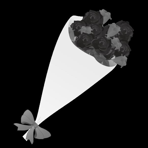 白黒の薔薇のイラスト18