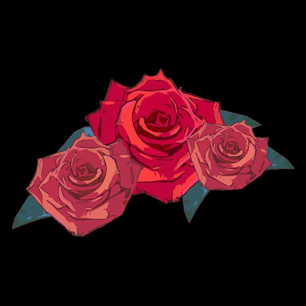 アートな薔薇装飾のイラスト