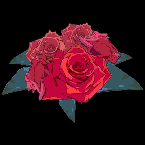 アートな薔薇装飾のイラスト2