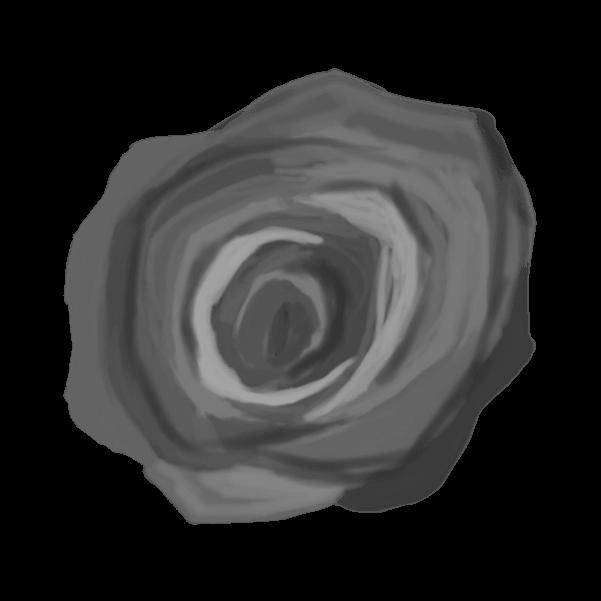 白黒の薔薇のイラスト34