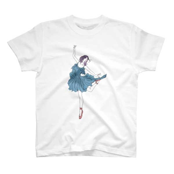 バレリーナのイラストTシャツ